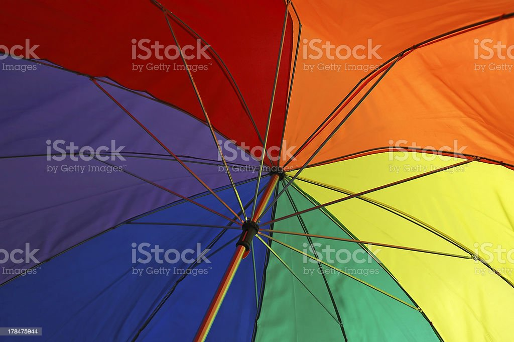 Pride Umbrella royalty-free stock photo