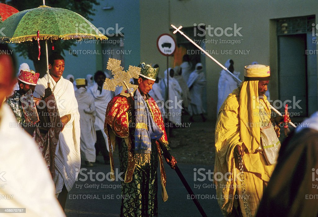 priest carries the holy ark stock photo