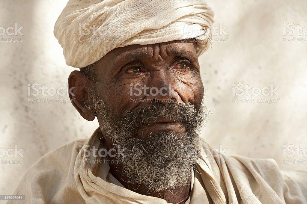 Priest of an Orthodox Monastery in Tigray, Ethiopia royalty-free stock photo