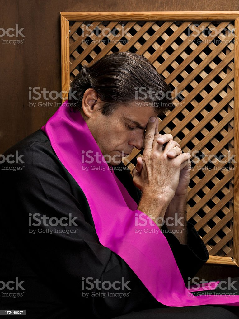 Priest royalty-free stock photo