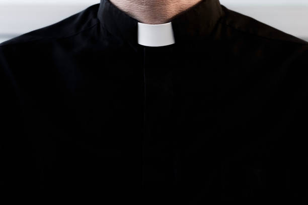 Priest silhouette. Christian religion. clergy stock pictures, royalty-free photos & images