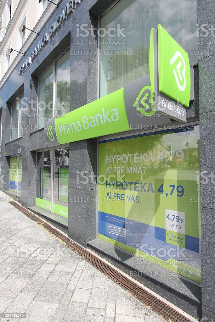 Prima Bank, Slovakia stock photo