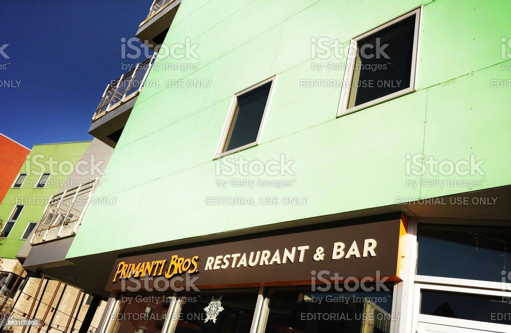 Primanti Bros. Restaurant & Bar in Pittsburgh stock photo