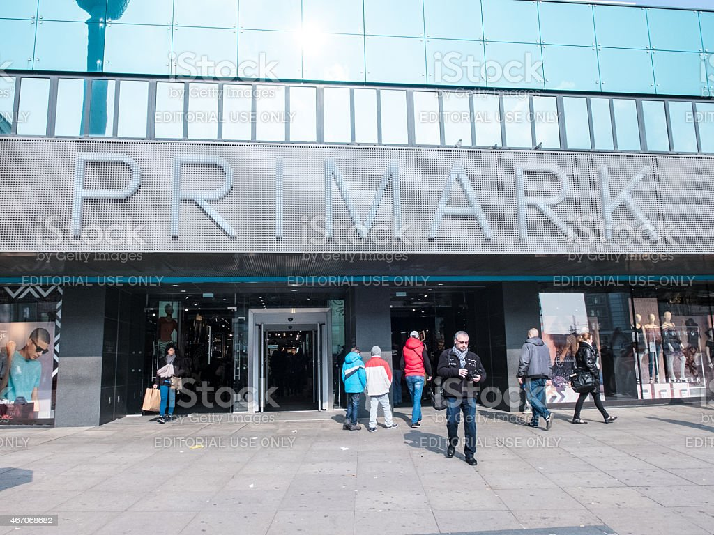 Primark at Alexanderplatz in Berlin stock photo