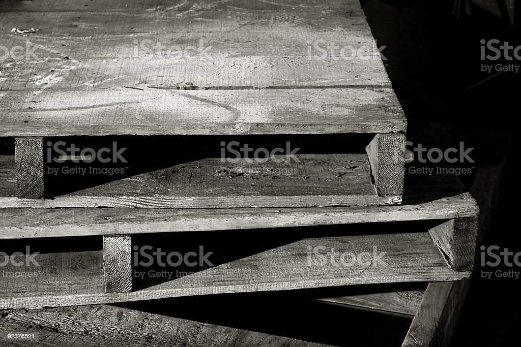 Primary Pallets royalty-free stock photo