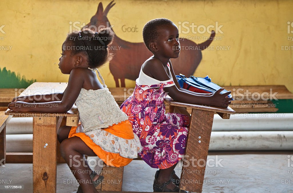 Primary school children in Zambia stock photo