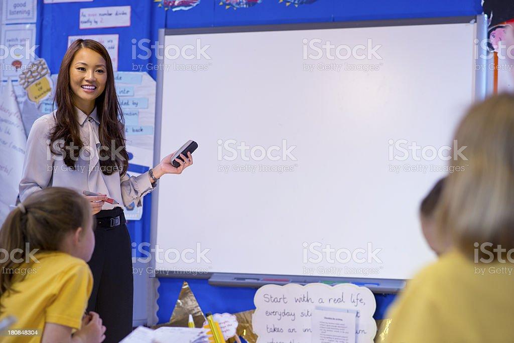 primary school  class teacher stock photo