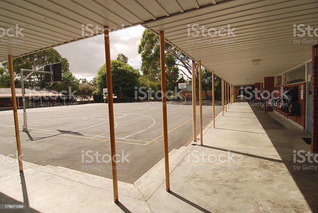 primary school courtyard stock photo