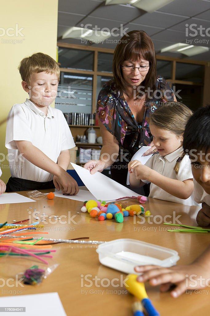 primary school: junior art class royalty-free stock photo