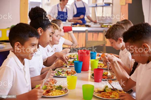 Primary school kids eating at a table in school cafeteria picture id538486580?b=1&k=6&m=538486580&s=612x612&h=t8dswi6fcje837aldjkiaxfcc3kjyrd8ytqjbceruds=