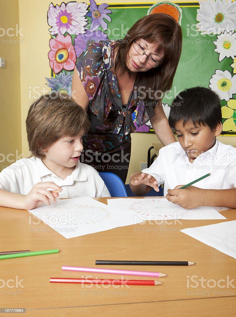 primary school: learning together royalty-free stock photo