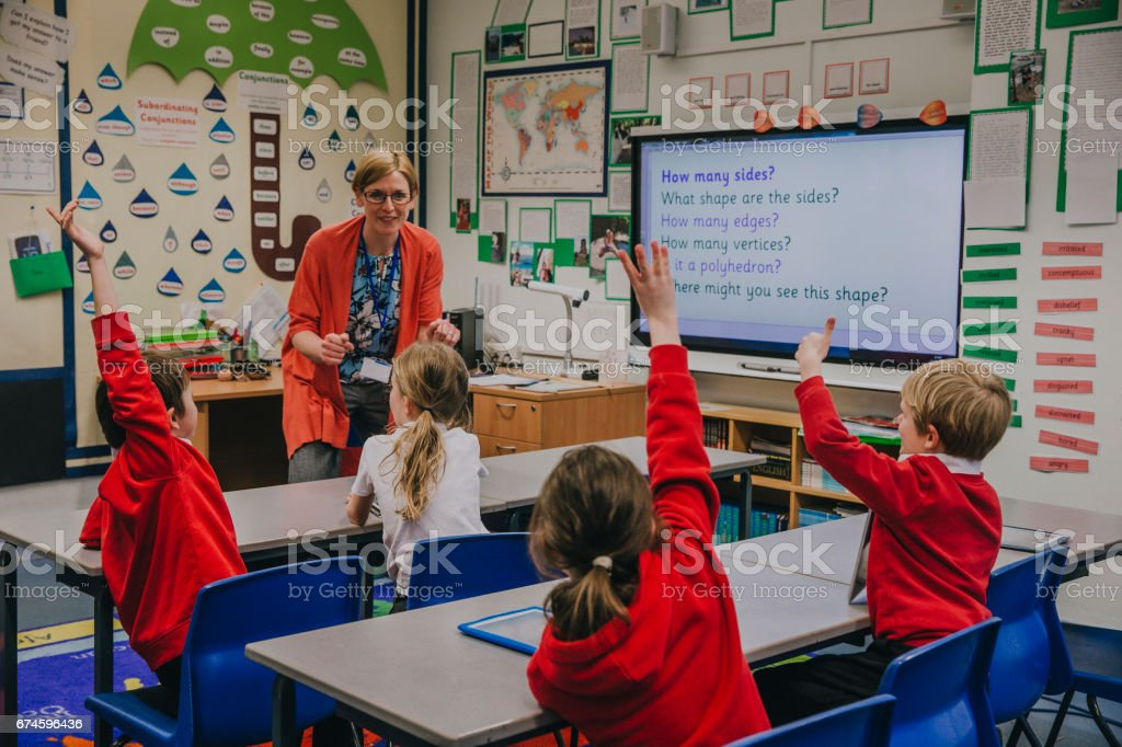 Primary School Lesson royalty-free stock photo