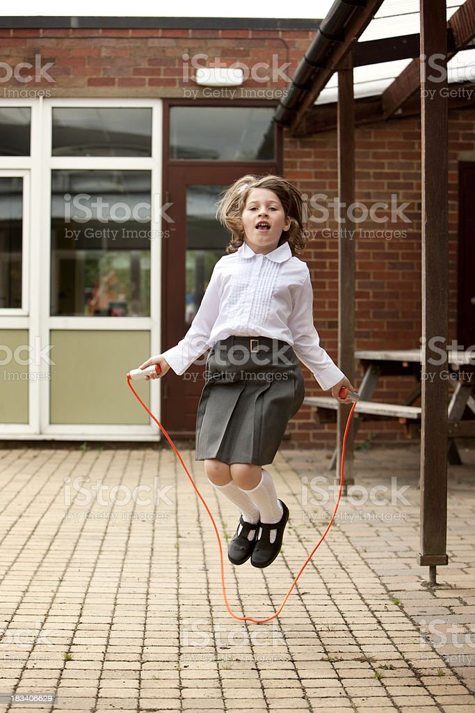 primary school: playground fun royalty-free stock photo