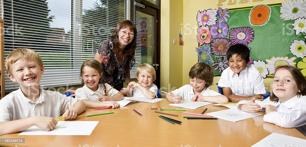 primary school: positive pupils royalty-free stock photo