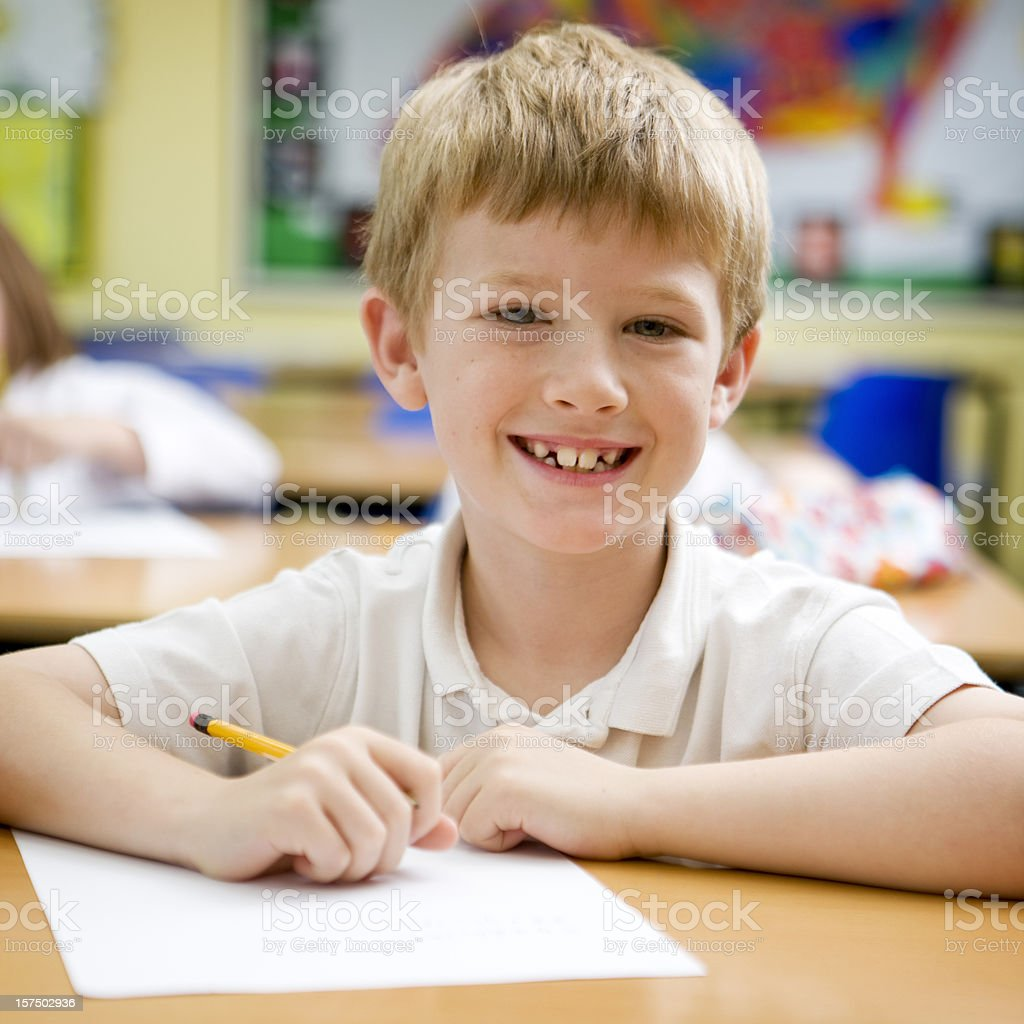 primary school: smiling student royalty-free stock photo
