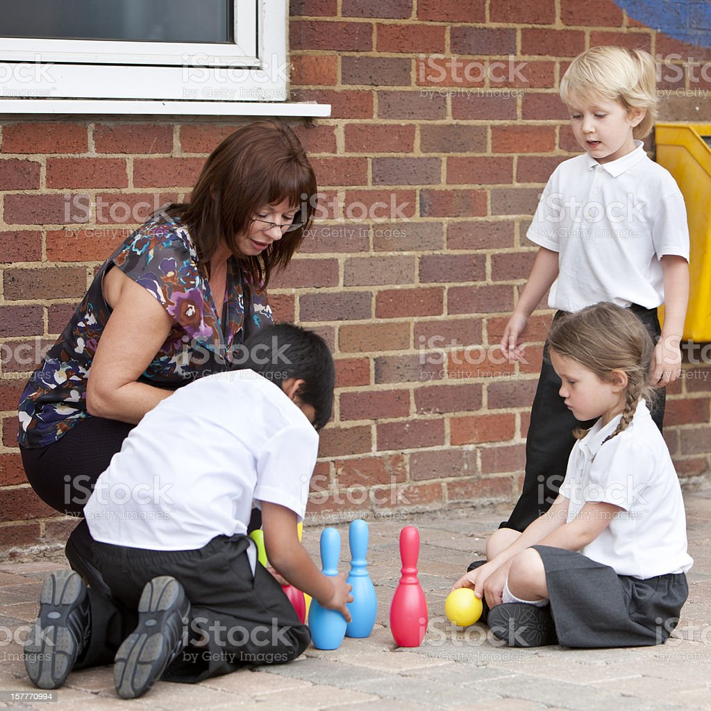 primary school: social learning royalty-free stock photo