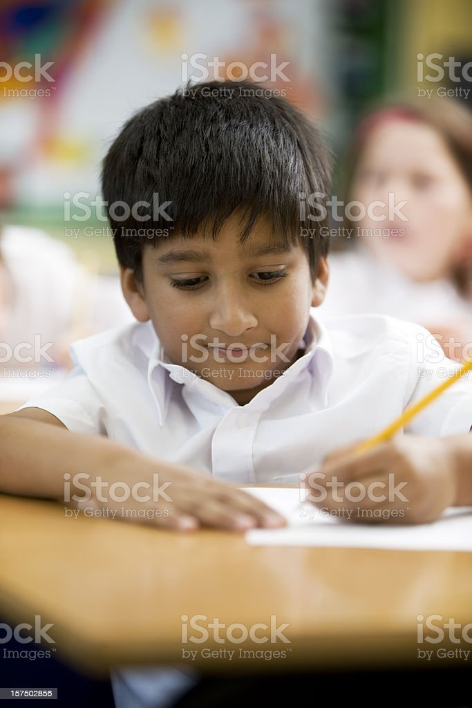 primary school: studying hard royalty-free stock photo