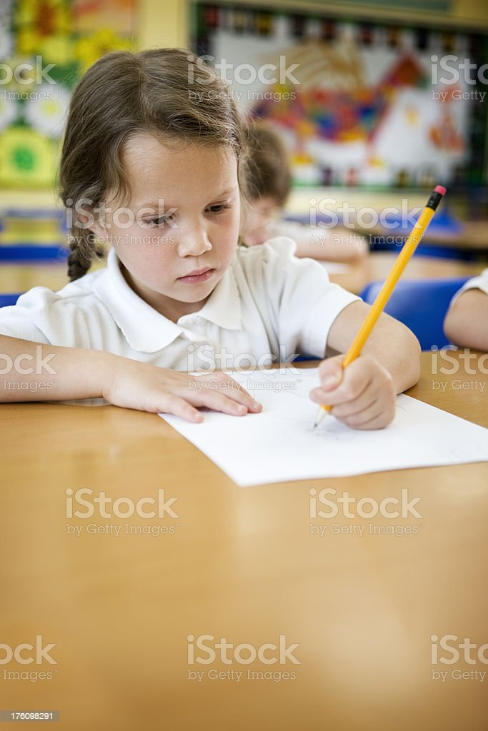 primary school: test conditions stock photo