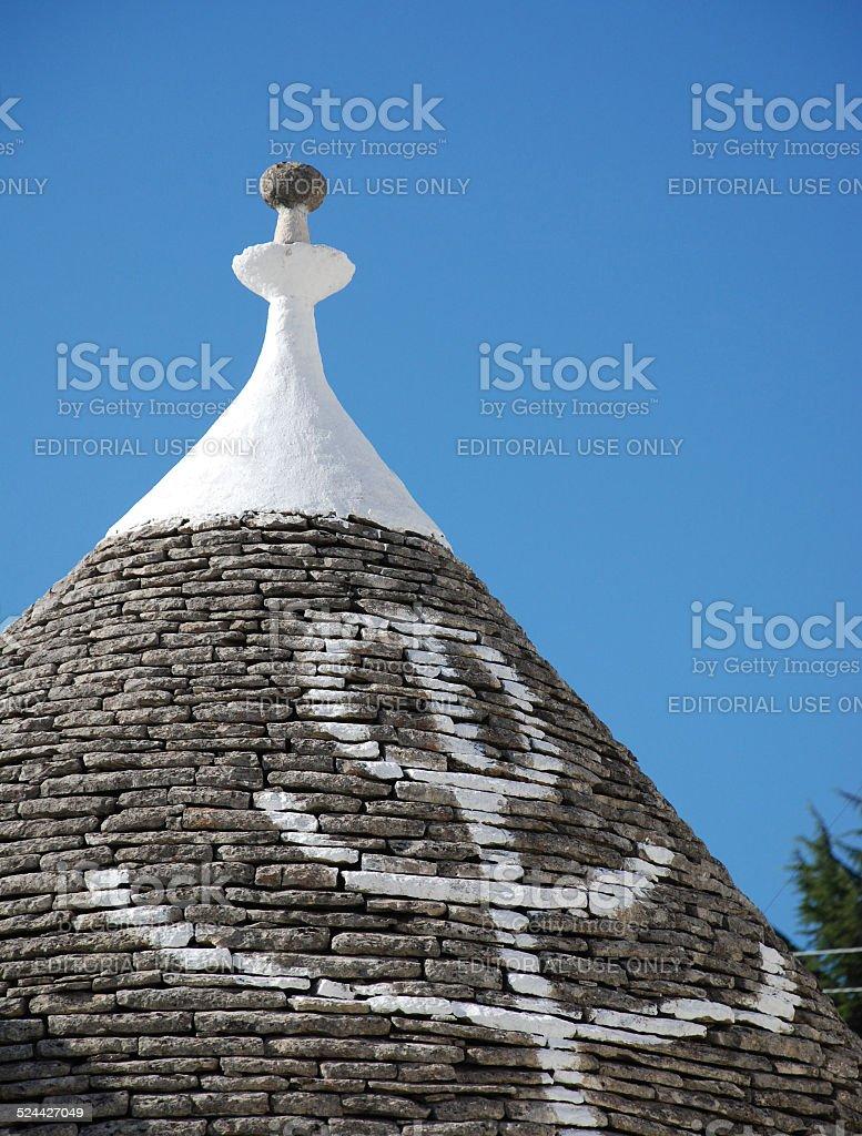 Primative Symbol on Trullo Roof stock photo