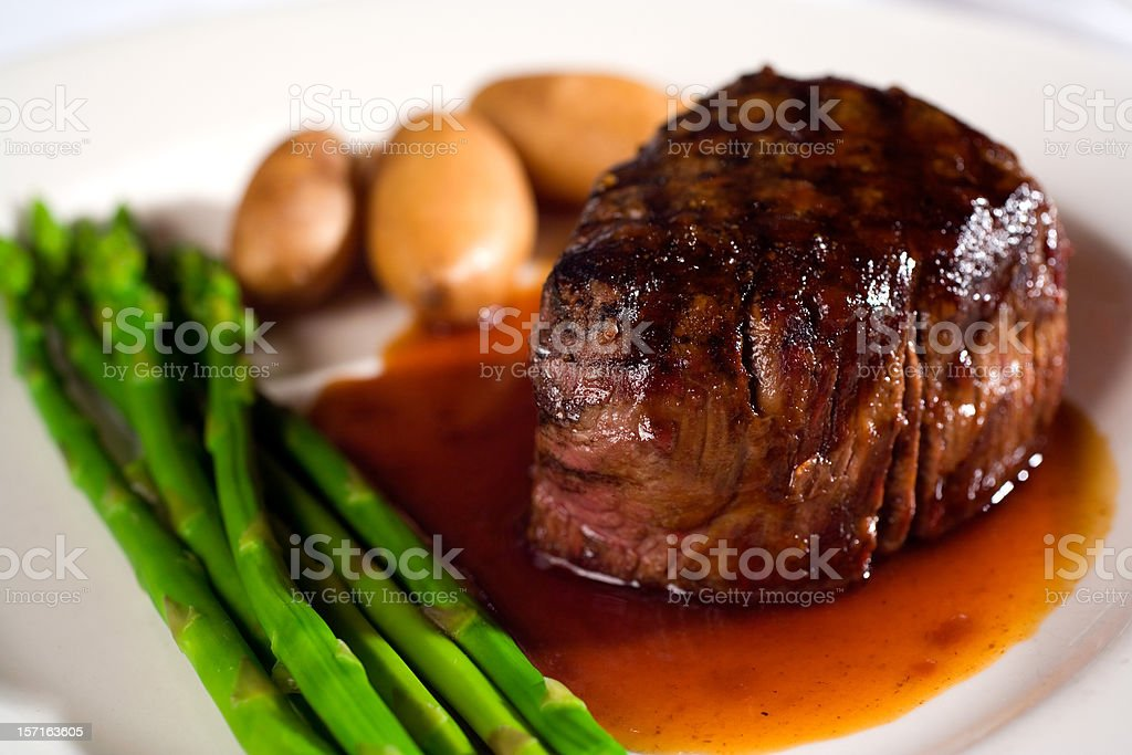 Prime Filet Mignon Steak stock photo