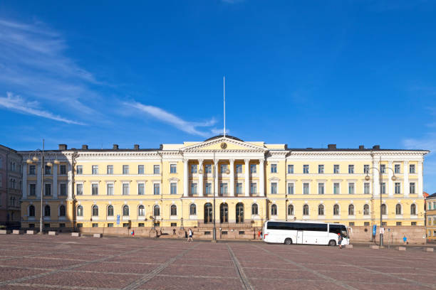 Prime Minister's Office in Helsinki stock photo