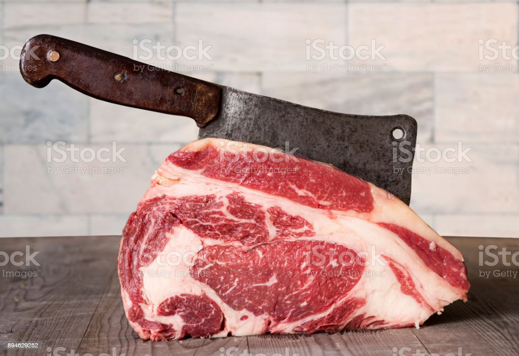 Prime rib Meat stock photo