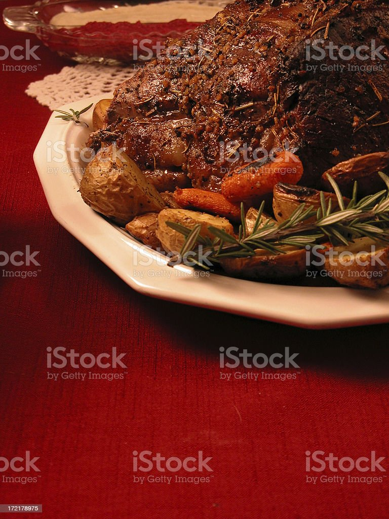 Prime Rib Roast royalty-free stock photo