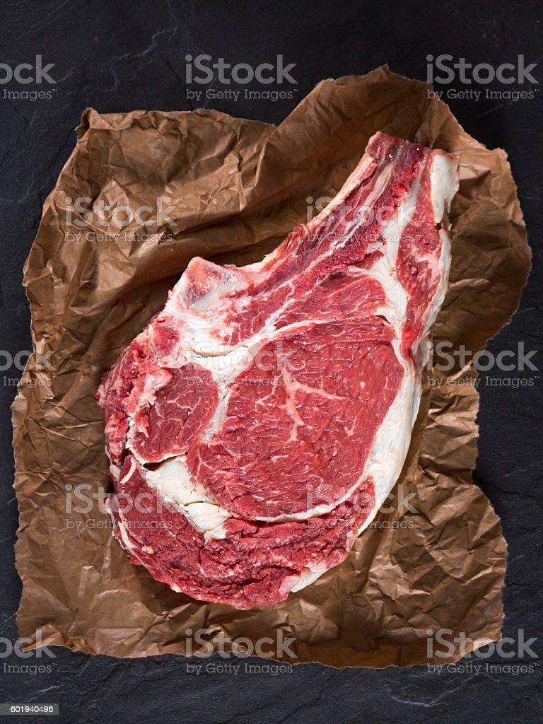 Prime rib steak cut stock photo
