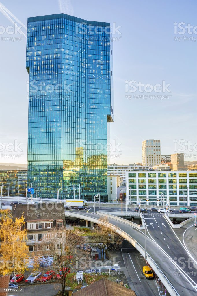 Prime Tower in Zurich stock photo