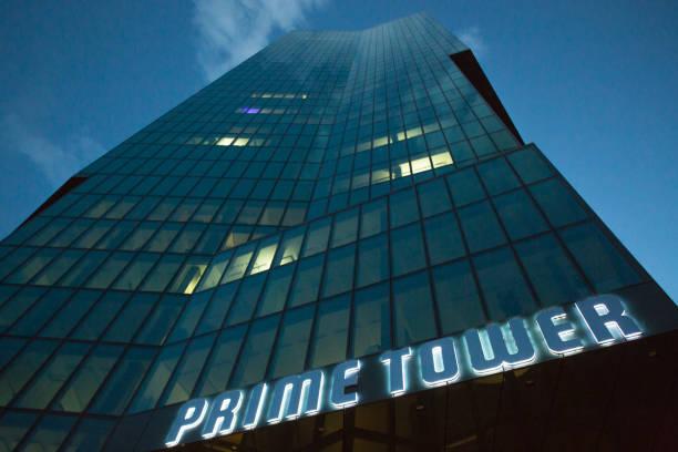 prime tower zürich - zurigo foto e immagini stock