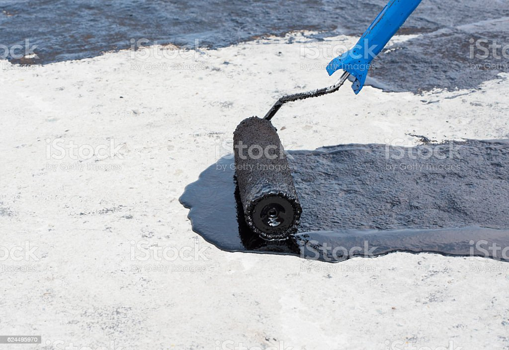 priming concrete screed stock photo