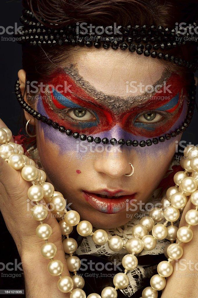 Primitive make-up royalty-free stock photo
