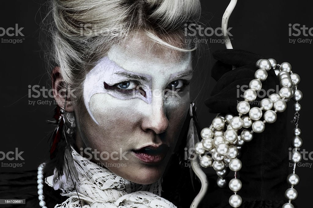 Primitive make-up royalty-free stock photo