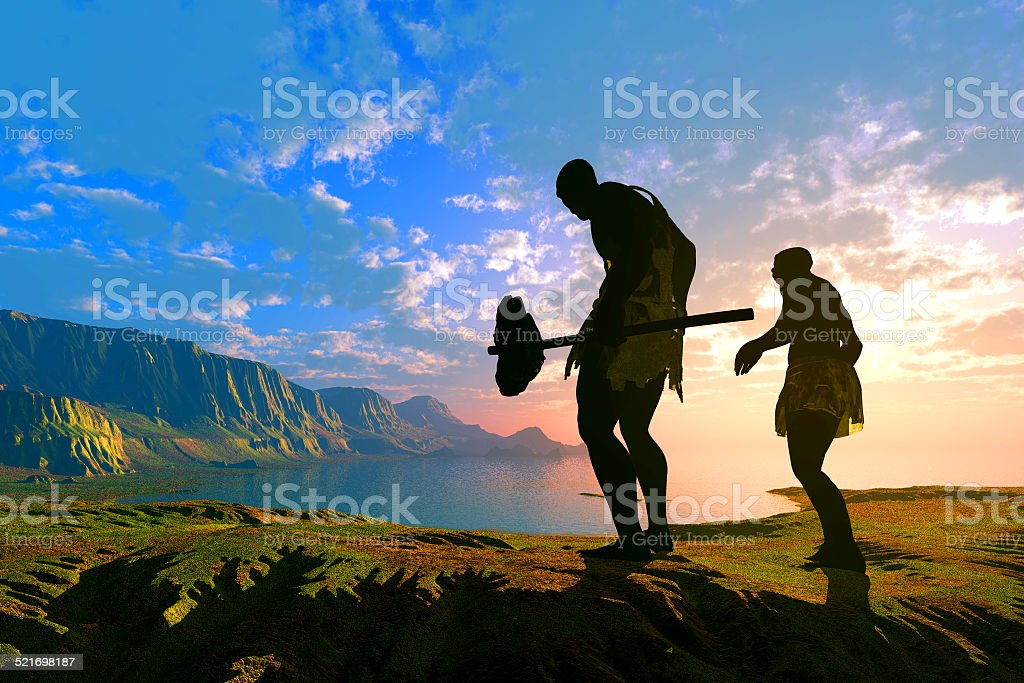 Primitive  people stock photo