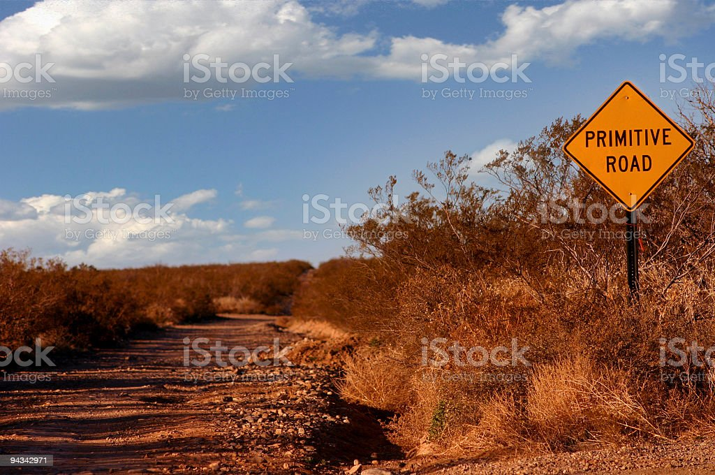 Primitive Road royalty-free stock photo