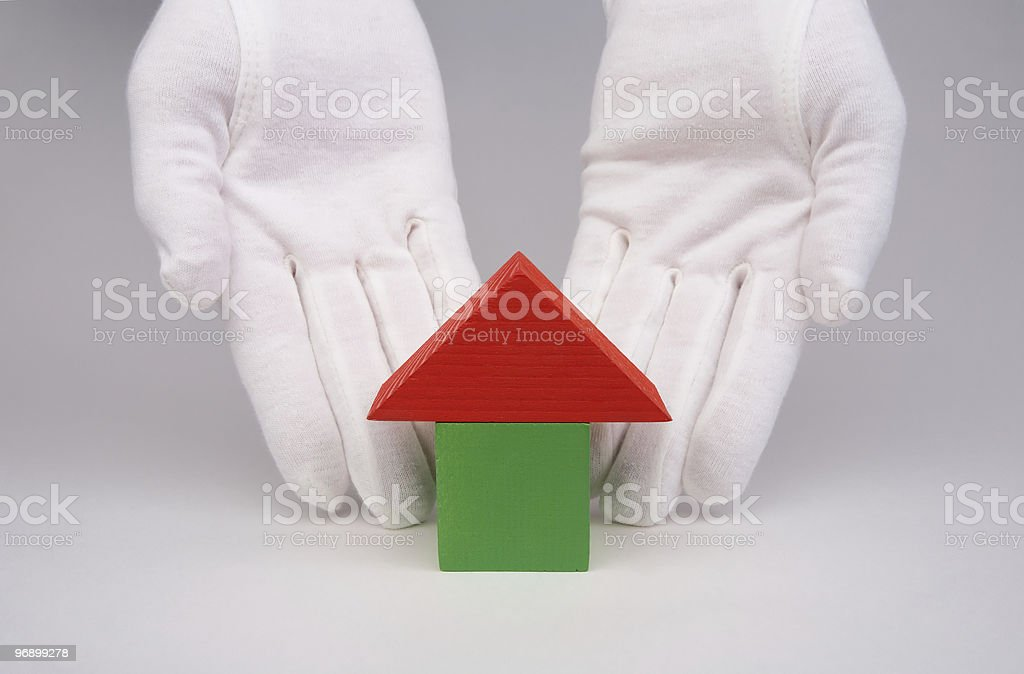 Primitive small house royalty-free stock photo