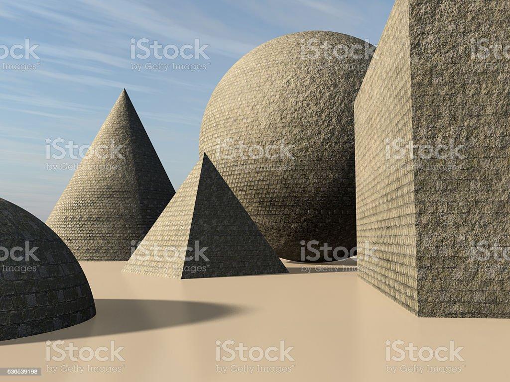 Primitive Stone Brick stock photo