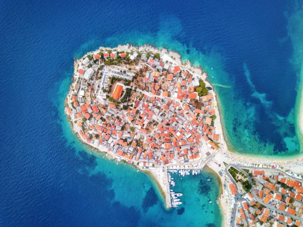 Primosten Croatian Coast stock photo