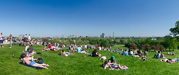 Primrose Hill mit Blick über London – Foto