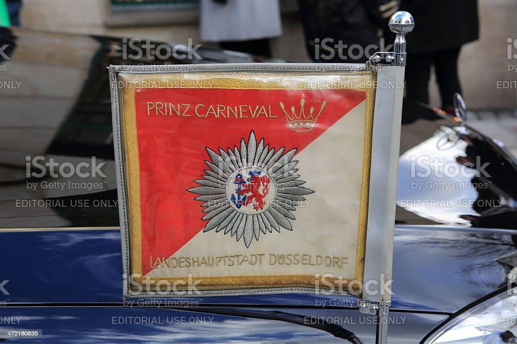 Prince Carnival Düsseldorf Flag stock photo