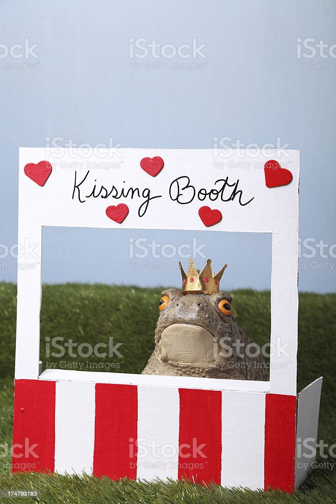 Prince Charming at Kissing Booth royalty-free stock photo