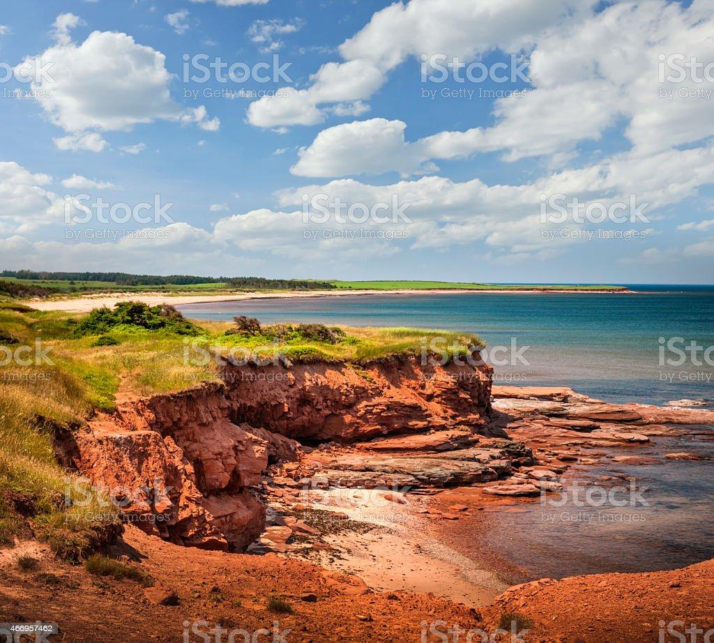 Prince Edward Island coast stock photo