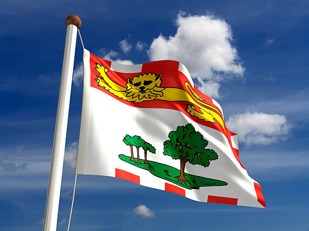 prince edward island flag canada - prince edward island stock photos and pictures