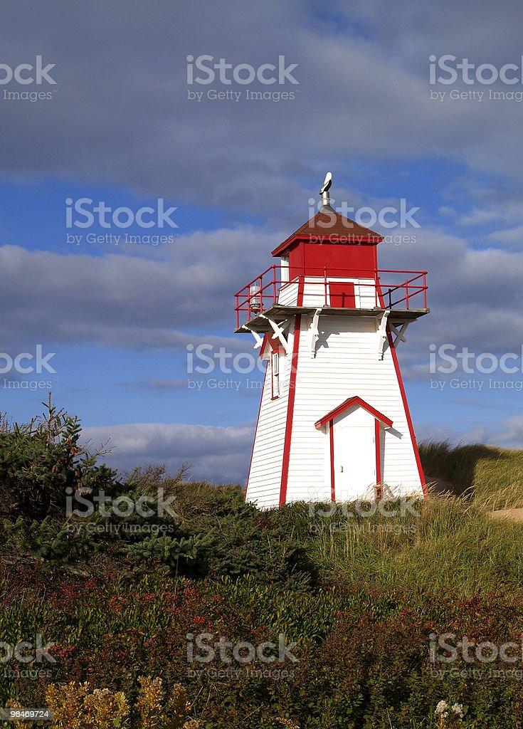 Prince Edward Island Lighthouse royalty-free stock photo