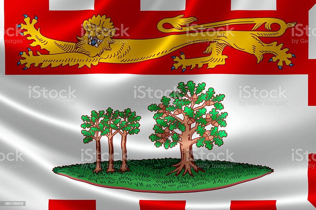 Prince Edward Island Provincial Flag of Canada stock photo