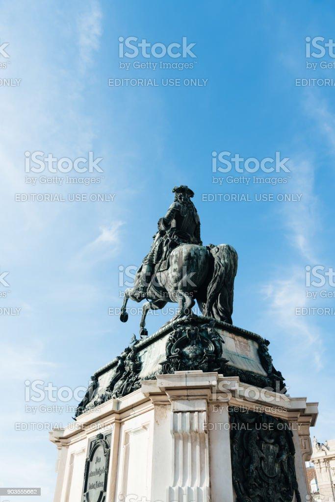 Prince Eugen equestrian statue in Vienna stock photo
