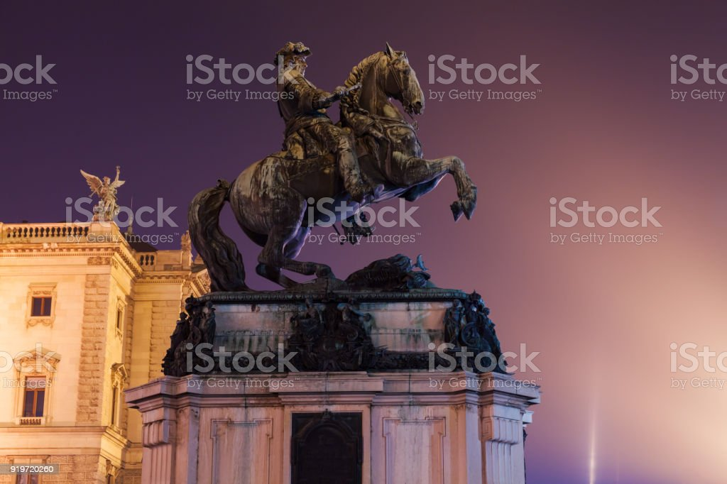 Prince Eugene of Savoy monument stock photo