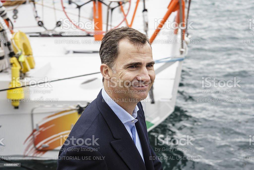 Prince Felipe de Borbón during  the Volvo Ocean Race. stock photo