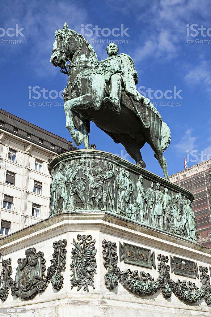 Prince Michael statue stock photo