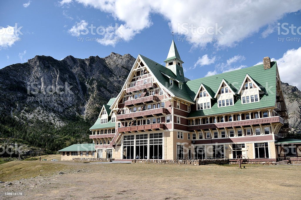 Prince of Wales Hotel in Summer stock photo
